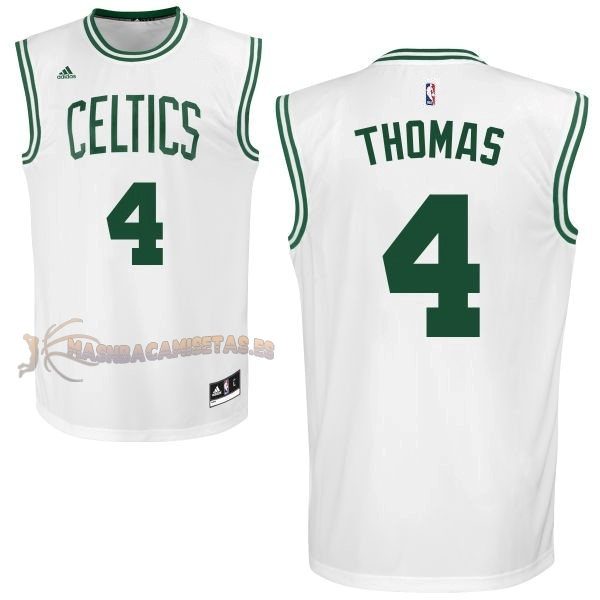 De Alta Calidad Camisetas NBA Boston Celtics 4 Isaiah Thomas Blanco