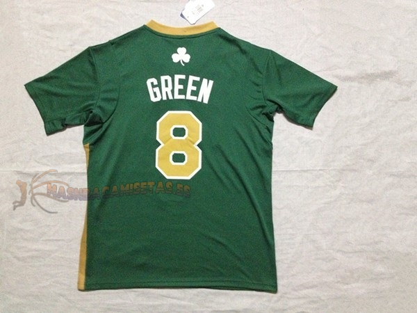 De Alta Calidad Camisetas NBA Boston Celtics Manga Corta 8 Jeff Green Verde