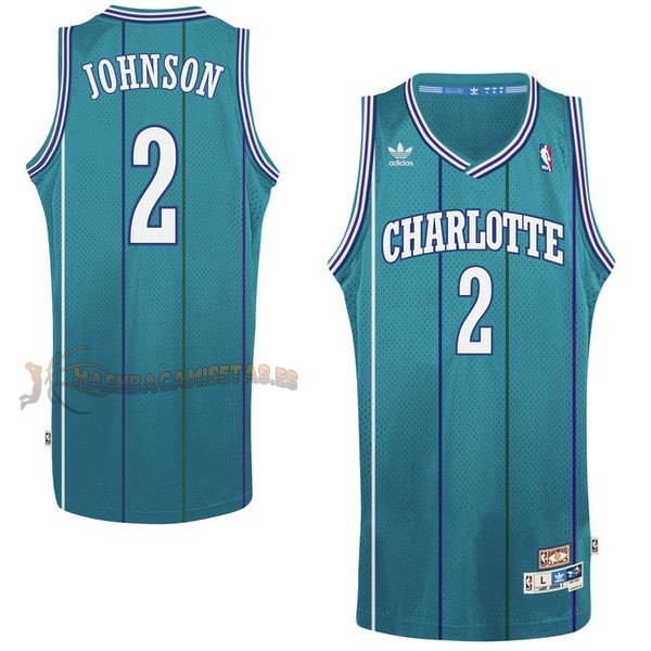 De Alta Calidad Camisetas NBA Charlotte Hornets 2 Larry Demetric Johnson Verde