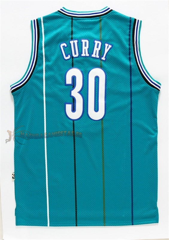 De Alta Calidad Camisetas NBA Charlotte Hornets 30 Wardell Stephen Curry Verde