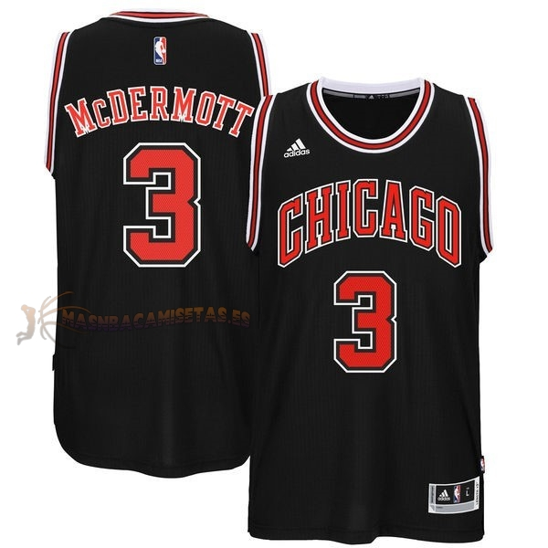 De Alta Calidad Camisetas NBA Chicago Bulls 3 Doug McDermott Negro