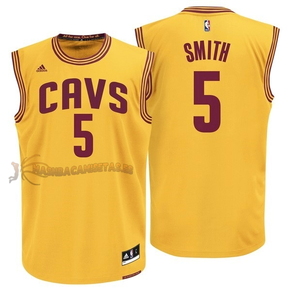 De Alta Calidad Camisetas NBA Cleveland Cavaliers 5 JR.Smith Amarillo