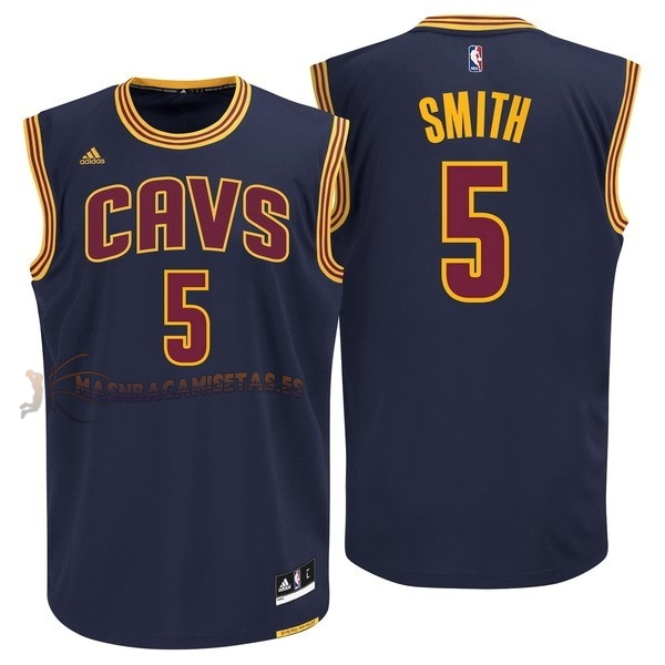 De Alta Calidad Camisetas NBA Cleveland Cavaliers 5 JR.Smith Azul