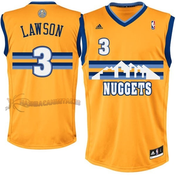 De Alta Calidad Camisetas NBA Denver Nuggets 3 Allen Iverson Amarillo