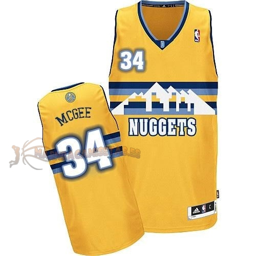 De Alta Calidad Camisetas NBA Denver Nuggets 34 JaVale McGee Amarillo