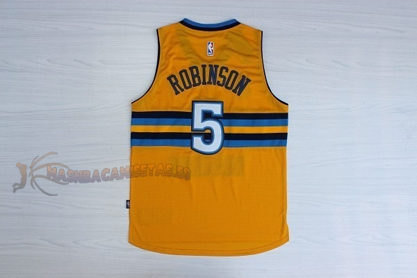 De Alta Calidad Camisetas NBA Denver Nuggets 5 Nate Robinson Amarillo