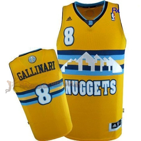 De Alta Calidad Camisetas NBA Denver Nuggets 8 Danilo Gallinari Amarillo
