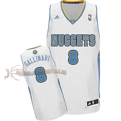De Alta Calidad Camisetas NBA Denver Nuggets 8 Danilo Gallinari Blanco