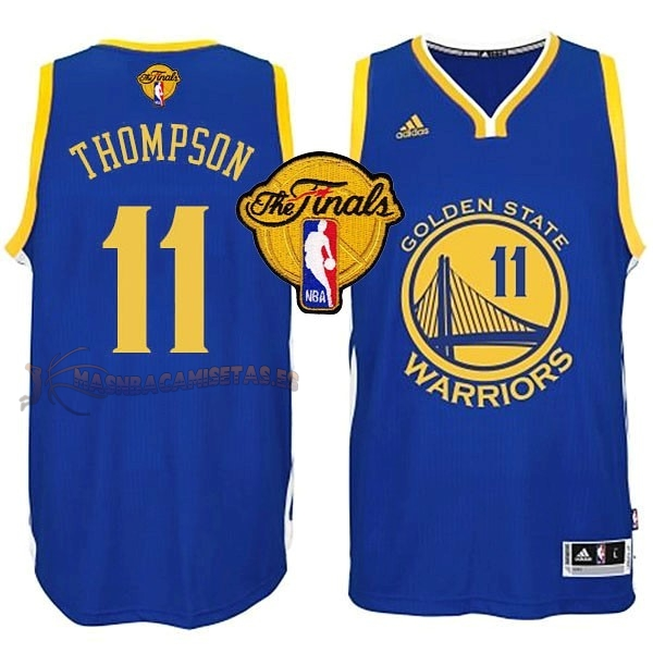 De Alta Calidad Camisetas NBA Golden State Warriors Finales 11 Thompson Azul