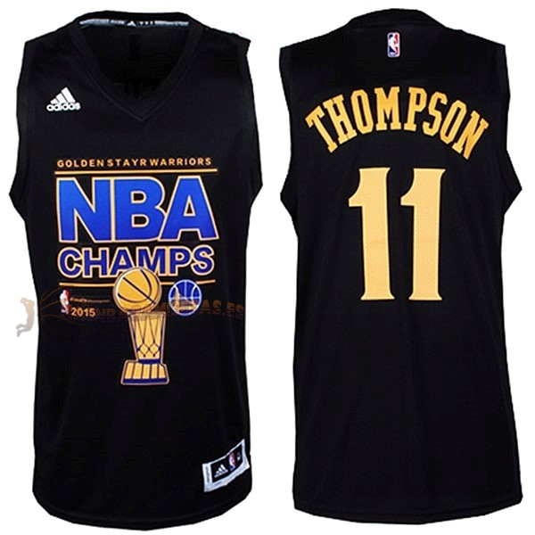 De Alta Calidad Camisetas NBA Golden State Warriors Finales 11 Thompson Negro