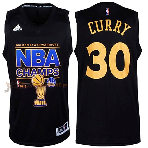 De Alta Calidad Camisetas NBA Golden State Warriors Finales 30 Curry Negro