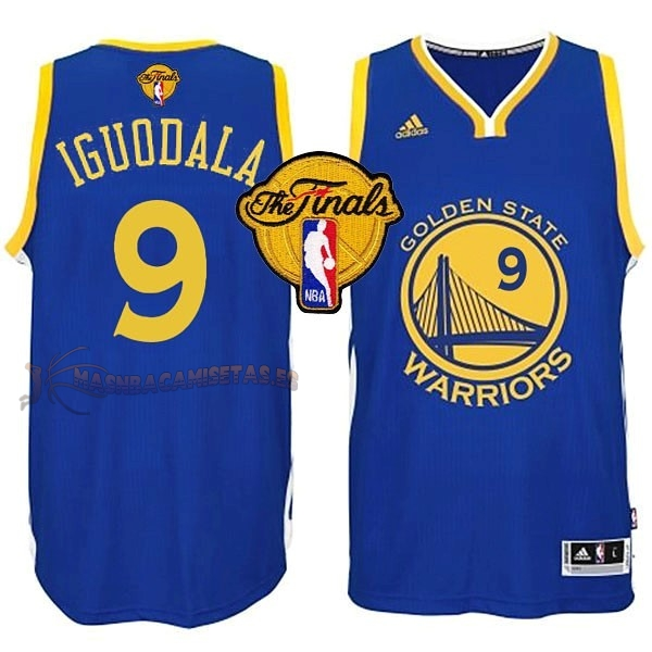 De Alta Calidad Camisetas NBA Golden State Warriors Finales 9 Iguodala Azul