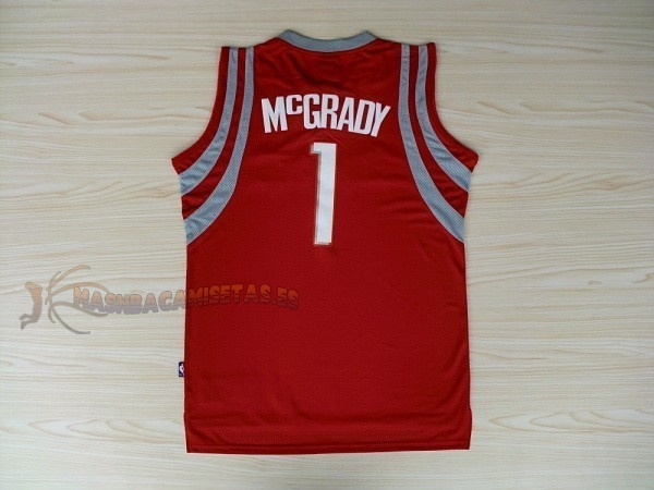 De Alta Calidad Camisetas NBA Houston Rockets 1 Tracy McGrady Rojo