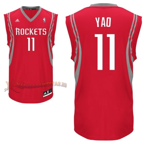 De Alta Calidad Camisetas NBA Houston Rockets 11 Yao Ming Rojo