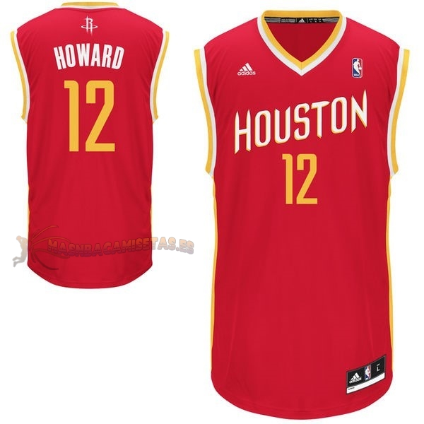 De Alta Calidad Camisetas NBA Houston Rockets 12 Dwight Howard Retro Rojo
