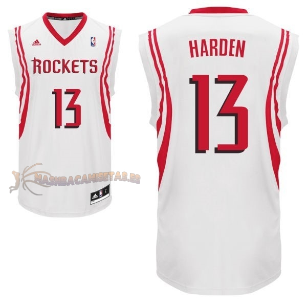 De Alta Calidad Camisetas NBA Houston Rockets 13 James Harden Blanco