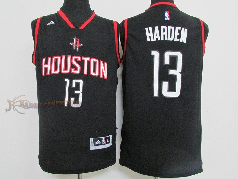 De Alta Calidad Camisetas NBA Houston Rockets 13 James Harden Negro