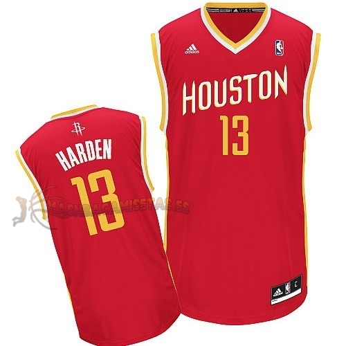 De Alta Calidad Camisetas NBA Houston Rockets 13 James Harden Retro Rojo