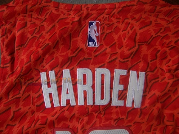 De Alta Calidad Camisetas NBA Houston Rockets Luz Leopardo 13 Harden Rojo