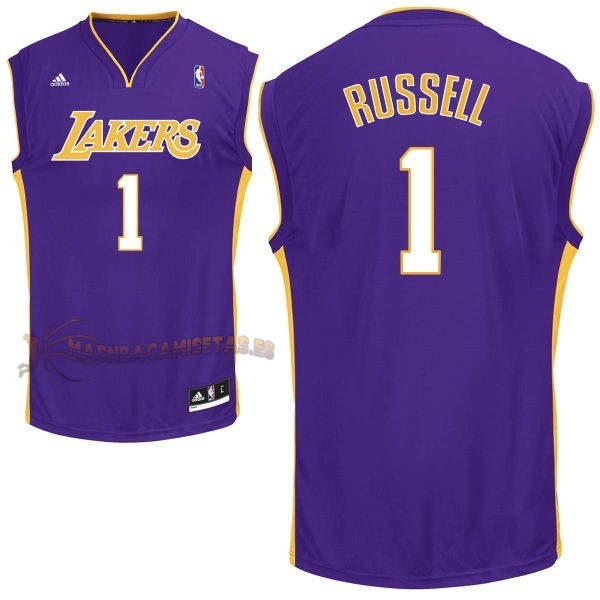 De Alta Calidad Camisetas NBA Los Angeles Lakers 1 D'Angelo Russell Púrpura