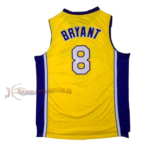 De Alta Calidad Camisetas NBA Los Angeles Lakers 8 Kobe Bryant Amarillo Púrpura