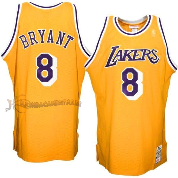 De Alta Calidad Camisetas NBA Los Angeles Lakers 8 Kobe Bryant Amarillo
