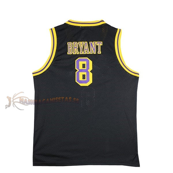 De Alta Calidad Camisetas NBA Los Angeles Lakers 8 Kobe Bryant Negro