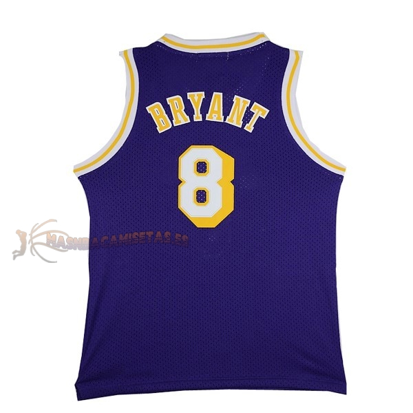 De Alta Calidad Camisetas NBA Los Angeles Lakers 8 Kobe Bryant Púrpura