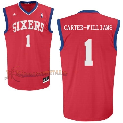 De Alta Calidad Camisetas NBA Philadelphia Sixers 1 Michael Carter Williams Rojo
