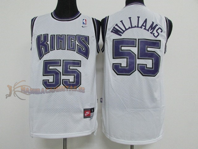 De Alta Calidad Camisetas NBA Sacramento Kings 55 Jason Williams Blanco