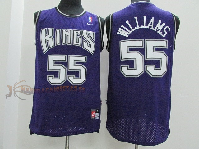 De Alta Calidad Camisetas NBA Sacramento Kings 55 Jason Williams Púrpura