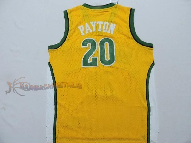 De Alta Calidad Camisetas NBA Seattle Supersonics 20 Gary Payton Amarillo