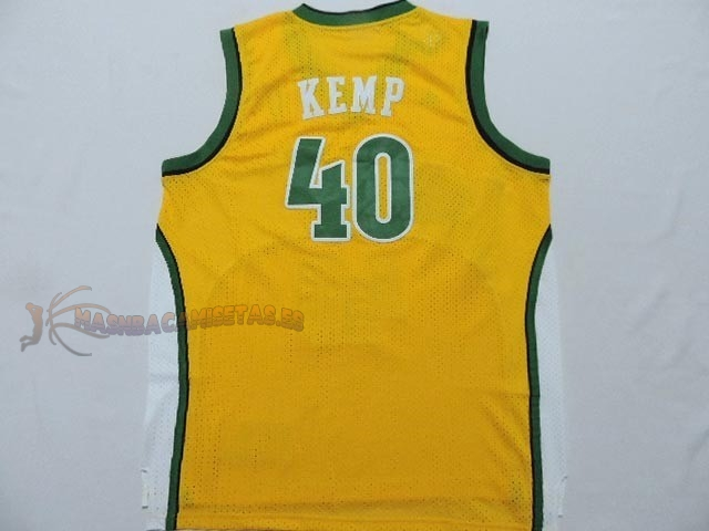 De Alta Calidad Camisetas NBA Seattle Supersonics 40 Shawn Kemp Amarillo
