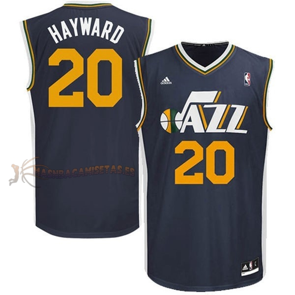 De Alta Calidad Camisetas NBA Utah Jazz 20 Gordon Hayward Azul