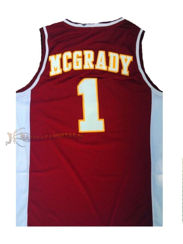 De Alta Calidad Camisetas NCAA Mountzion 1 Tracy McGrady Rojo