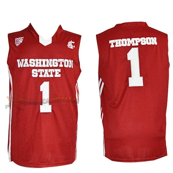 De Alta Calidad Camisetas NCAA Washington State 1 Thompson Rojo