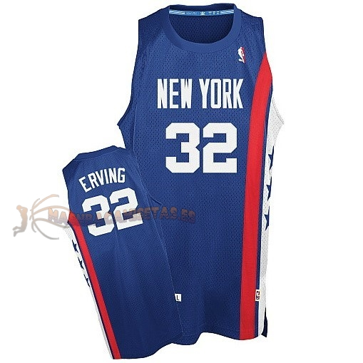 De Alta Calidad Maillo ABA Brooklyn Nets 32 Erving Azul