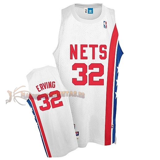 De Alta Calidad Maillo ABA Brooklyn Nets 32 Erving Blanco
