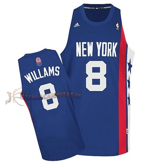 De Alta Calidad Maillo ABA Brooklyn Nets 8 Willams Azul