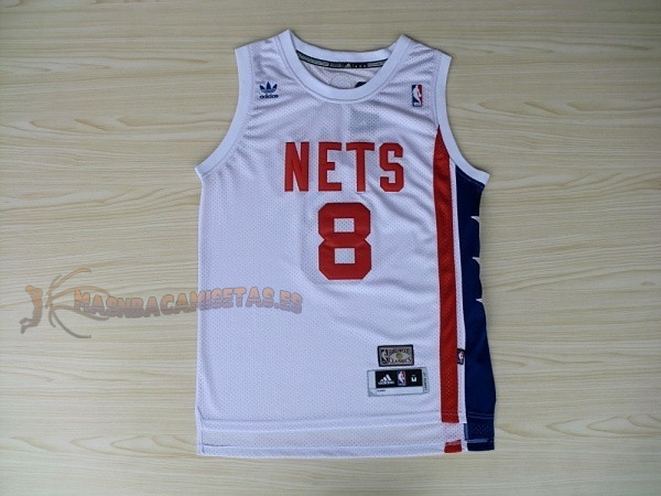 De Alta Calidad Maillo ABA Brooklyn Nets 8 Willams Blanco