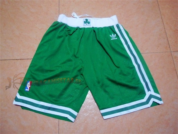 De Alta Calidad Pantalones Basket Boston Celtics Retro Verde