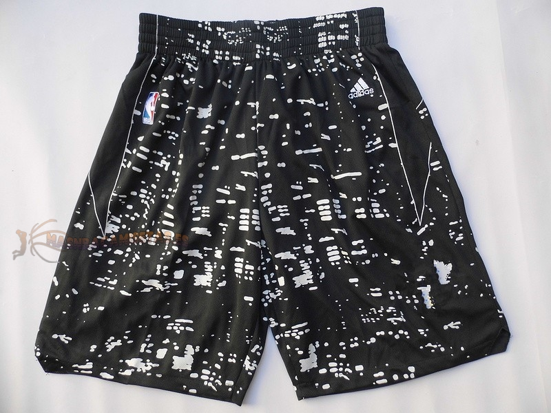 De Alta Calidad Pantalones Basket Luces Ciudad Golden State Warriors Negro