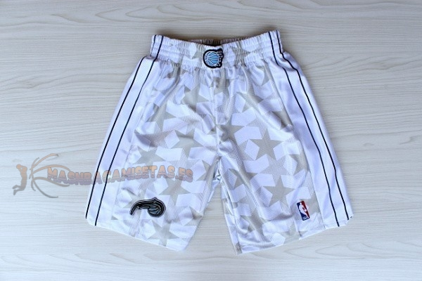 De Alta Calidad Pantalones Basket Orlando Magic Blanco